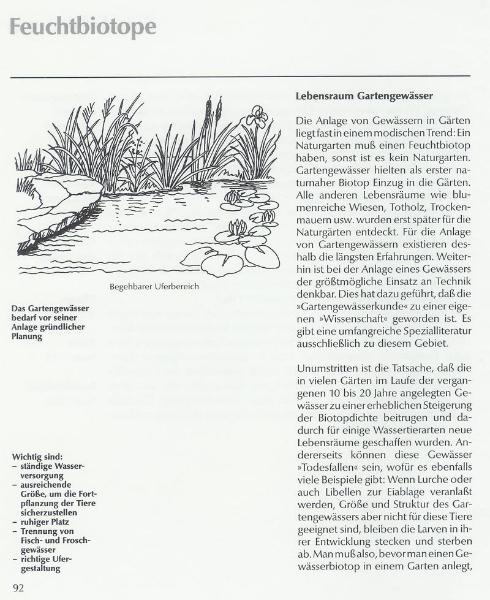 Lebensraum Gartengewässer