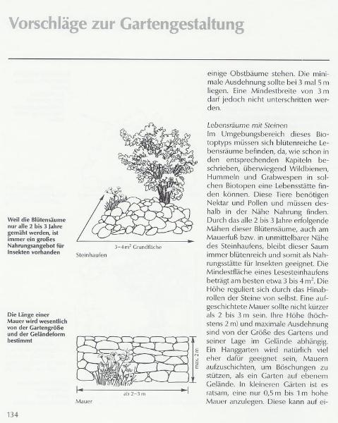 Umgebungsbereich der Biotope - durchdacht