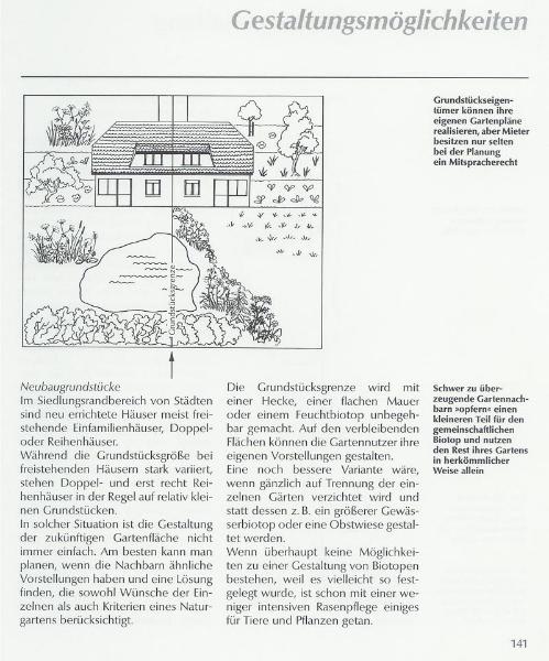 Gestaltungskonzept Neubaugrundstücke